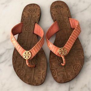 Tory Burch Sandal Flip flop orange size 6.5